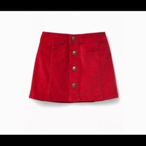 Old Navy Red corduroy skirt Sz 2T $20